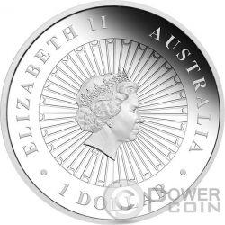 YEAR OF THE MONKEY Australian Opal 1 Oz Moneda Plata 1$ Australia 2016