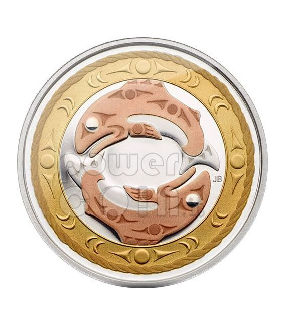 RETURN OF TYEE Circle Of Life Moneda Plata 3$ Canada 2010