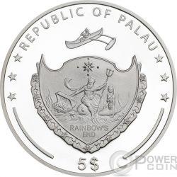 LUNAR SKULLS Monkey Chinese Year 1 Oz Proof Moneda Plata 5$ Palau 2016