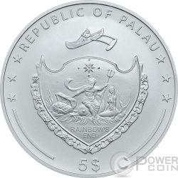 LUNAR SKULLS Monkey Chinese Year 1 Oz BU Silver Coin 5$ Palau 2016