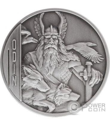 ODIN Norse Gods High Relief 2 Oz Silver Coin 5$ Niue 2016