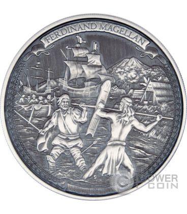 FERDINAND MAGELLAN Journeys Of Discovery 2 oz Silver Coin 5$ Niue 2016