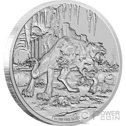 CERBERUS Creatures of Greek Mythology Cerbero Mitologia Greca 1 Oz Moneta Argento 2$ Niue 2015