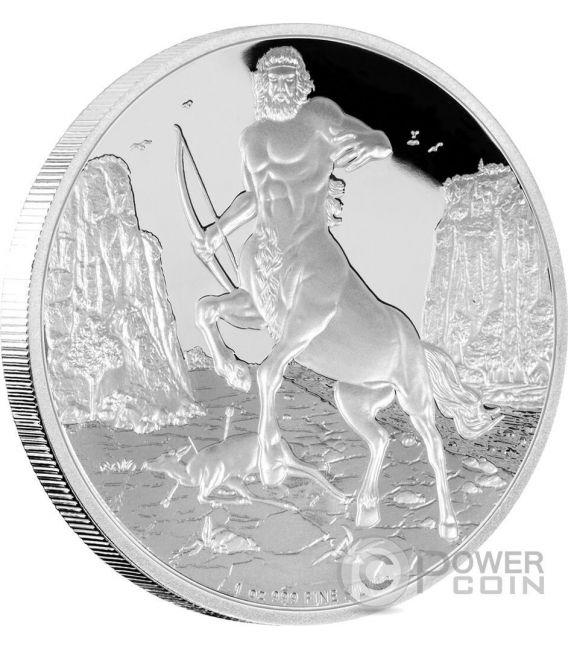 CENTAUR Creatures of Greek Mythology 1 Oz Moneda Plata 2$ Niue 2016