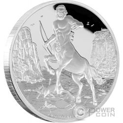 CENTAUR Creatures of Greek Mythology Centauro Mitologia Greca 1 Oz Moneta Argento 2$ Niue 2016