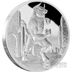 MINOTAUR Creatures of Greek Mythology Minotauro Mitologia Greca 1 Oz Moneta Argento 2$ Niue 2016