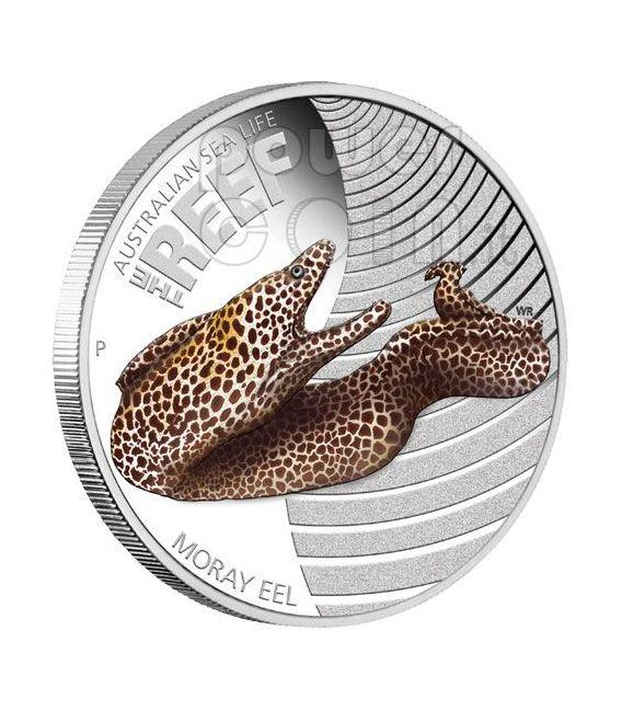 MORAY EEL Australian Sea Life Silber Münze 50c Australia 2010