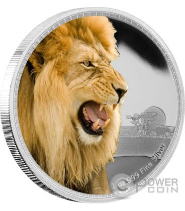 AFRICAN LION Kings of the Continents Re dei Continenti Leone 1 Oz Moneta Argento 2$ Niue 2016