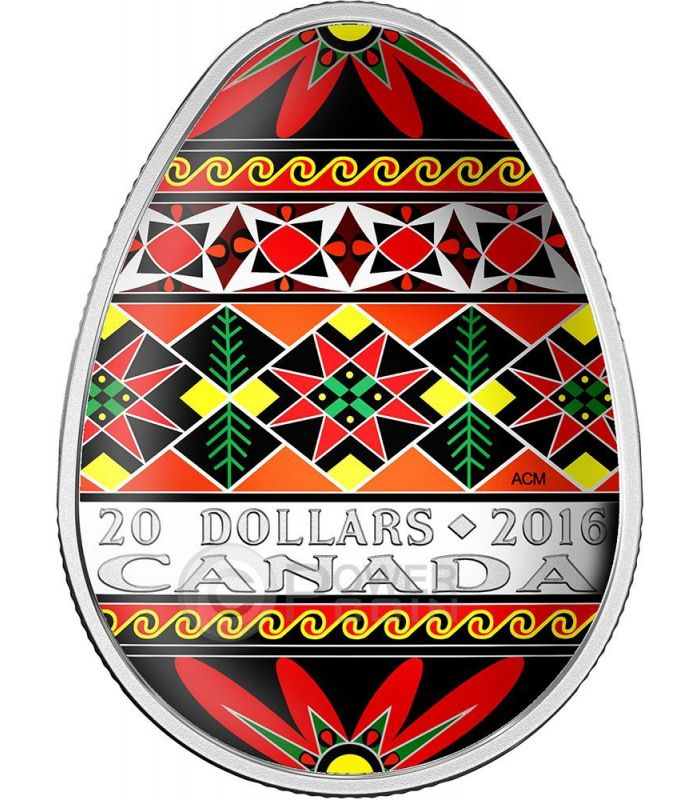 Traditional Ukrainian Pysanka Easter Colored Egg Shape