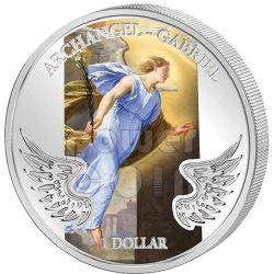 GABRIEL ARCHANGEL Guardian Angel Серебро Монета 1$ Соломонские Острова 2009