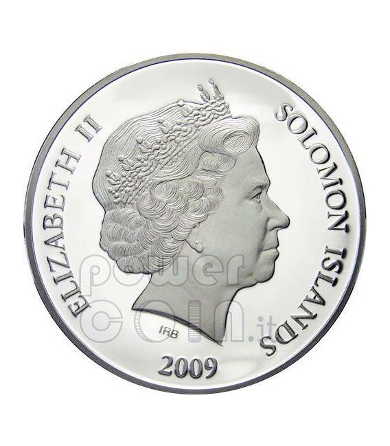 GABRIEL ARCHANGEL Guardian Angel Silver Coin 1$ Solomon Islands 2009