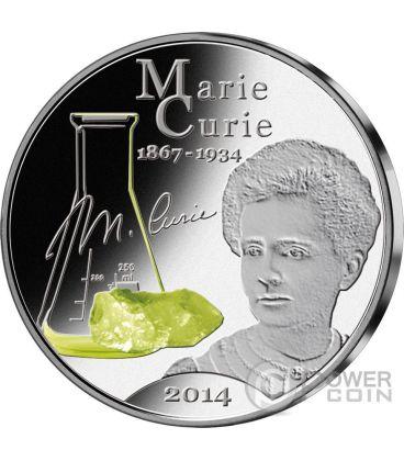 MARIE CURIE 80th Anniversary of Death 1 Oz Silver Coin 50 Vatu Vanuatu 2014