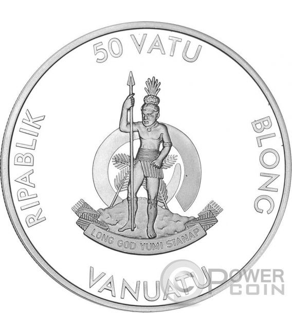 MARIE CURIE 80th Anniversary of Death 1 Oz Silber Münze 50 Vatu Vanuatu 2014