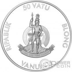 MARIE CURIE 80th Anniversary of Death 1 Oz Moneda Plata 50 Vatu Vanuatu 2014