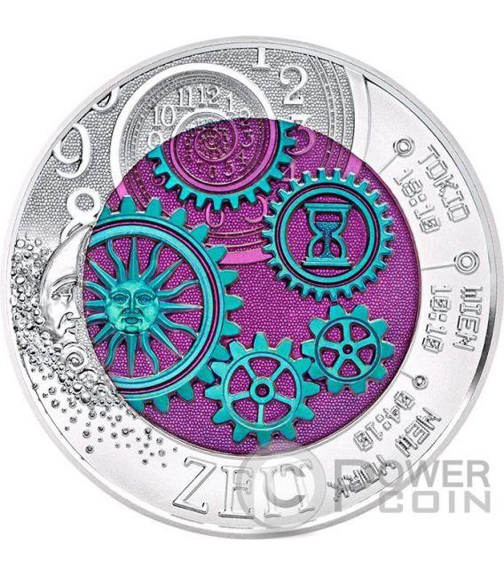 TIME Clock Niobium Silber Bimetallic Münze 25€ Euro Austria 2016