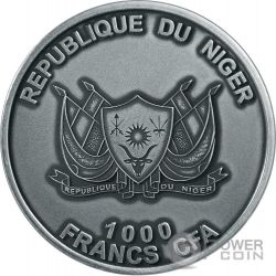 MOUNT TAZERZAIT African Meteorite Moneta Argento 1000 Franchi Niger 2016