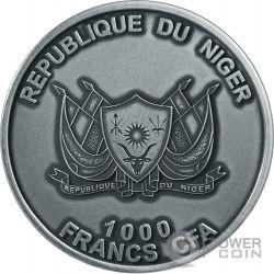 MOUNT TAZERZAIT African Meteorite Серебро Монета 1000 Франков Нигер 2016