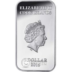 WEDGE TAILED EAGLE Australian Apex Predators Silver Coin 1$ Cook Islands 2016