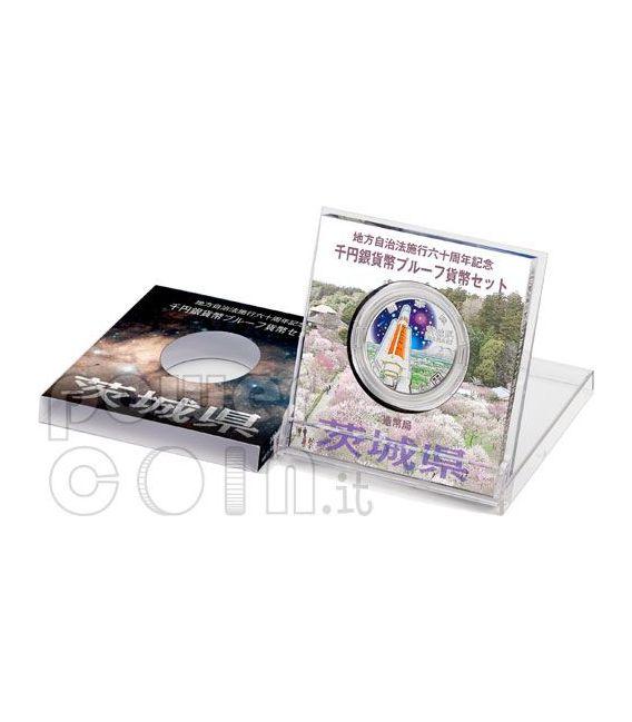 IBARAKI 47 Prefetture (6) Moneta Argento 1000 Yen Giappone 2009