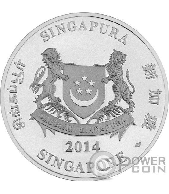ORCHIDS Native 2 Silber Proof Münze Set 5$ Singapore 2014
