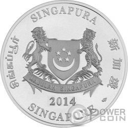 ORCHIDS Native 2 Plata Proof Moneda Set 5$ Singapore 2014