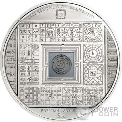 EGYPTIAN LABYRINTH Milestones of Mankind Серебро Монета 10$ Острова Кука 2016