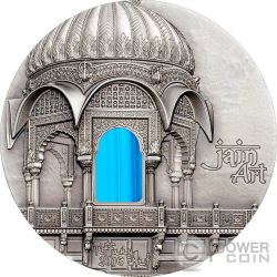 TIFFANY ART AMAR SAGAR Jain Temple 2 Oz Moneda Plata 10$ Palau 2016