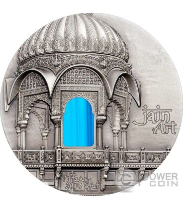 TIFFANY ART AMAR SAGAR Jain Temple 2 Oz Silver Coin 10$ Palau 2016