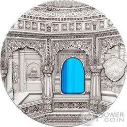 TIFFANY ART AMAR SAGAR Jain Temple 2 Oz Moneda Plata 10$ Palau 2016