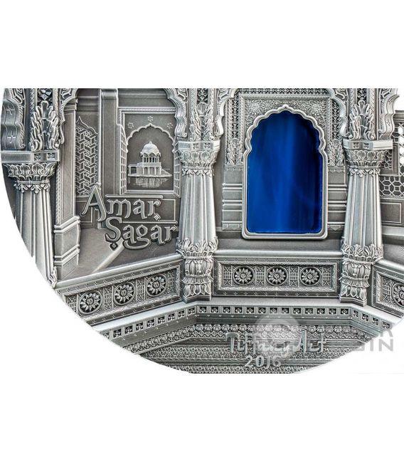 TIFFANY ART AMAR SAGAR Jain Temple 1 Kg Kilo Silver Coin 50$ Palau 2016