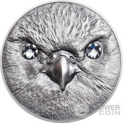 SAKER FALCON Wildlife Protection Silver Coin 500 Togrog Mongolia 2016