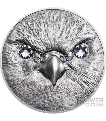 SAKER FALCON Wildlife Protection Falco Sacro Moneta Argento 500 Togrog Mongolia 2016