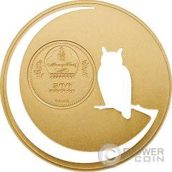 OWL Mongolian Nature Gufo Reale Moneta Argento 500 Togrog Mongolia 2016
