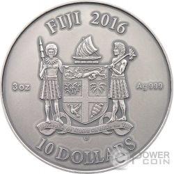 CELTIC Mandala Art II Celtico Malachite Alti Rilievi 3 Oz Moneta Argento 10$ Fiji 2016