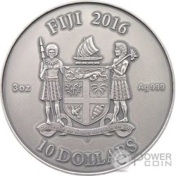 CELTIC Mandala Art II Malachite High Relief 3 Oz Silber Münze 10$ Fiji 2016
