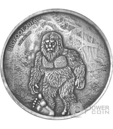 BIGFOOT Sasquatch 1 Oz Silver Coin 1000 Francs Burkina Faso 2016