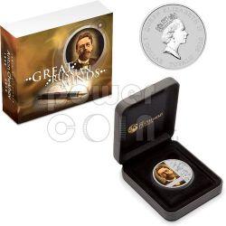 CHEKHOV Anton Cechov 150 Anniversario Moneta Argento 1$ Tuvalu 2010