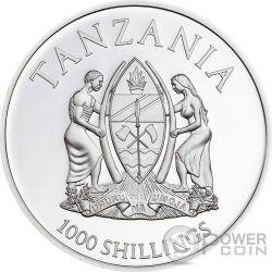 BUTTERFLY 3D Exotic Butterflies Cymothoe Hobarti Silver Coin 1000 Shillings Tanzania 2016