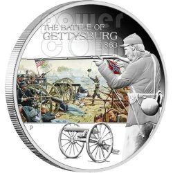 GETTYSBURG Battle 1863 Moneda Plata 1$ Tuvalu 2009