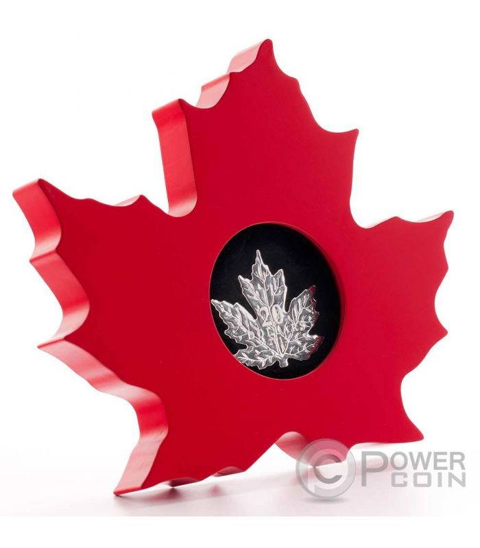 Cut Out Maple Leaf Silver Proof Coin 20 Canada 2015