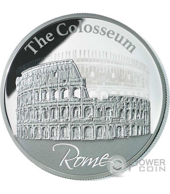 COLOSSEUM Colosseo Ologramma Roma Moneta Argento 2$ Niue 2015