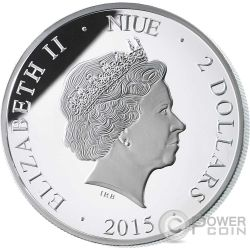 COLOSSEUM Hologram Collection Rome Серебро Монета 2$ Ниуэ 2015
