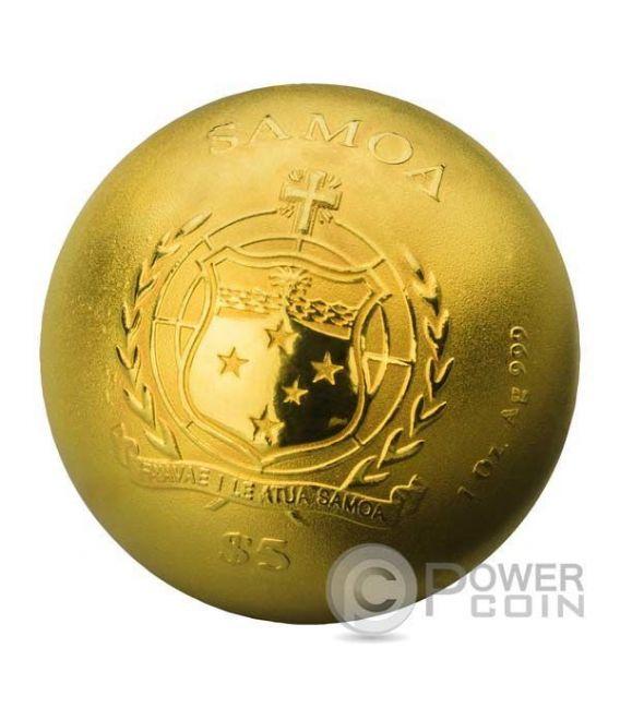 DIE GOLDENE MOZARTKUGEL Palle Di Mozart 1 Oz Moneta Argento 5$ Samoa 2016