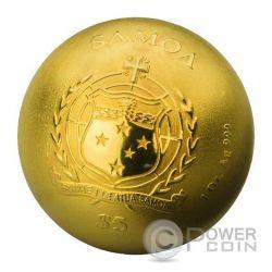 DIE GOLDENE MOZARTKUGEL Mozart Ball 1 Oz Silver Coin 5$ Samoa 2016