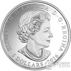 BIRTHSTONES MARZO March Gemma Swarovski Moneta Argento 5$ Canada 2016