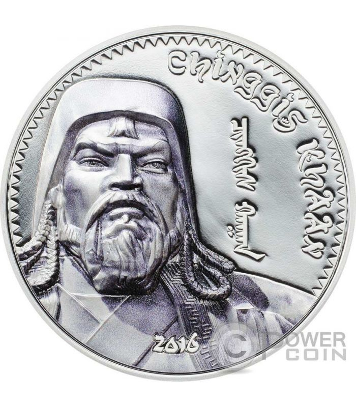 Genghis Khan Chingis Chinghis Chinggis Khaan Silver Coin