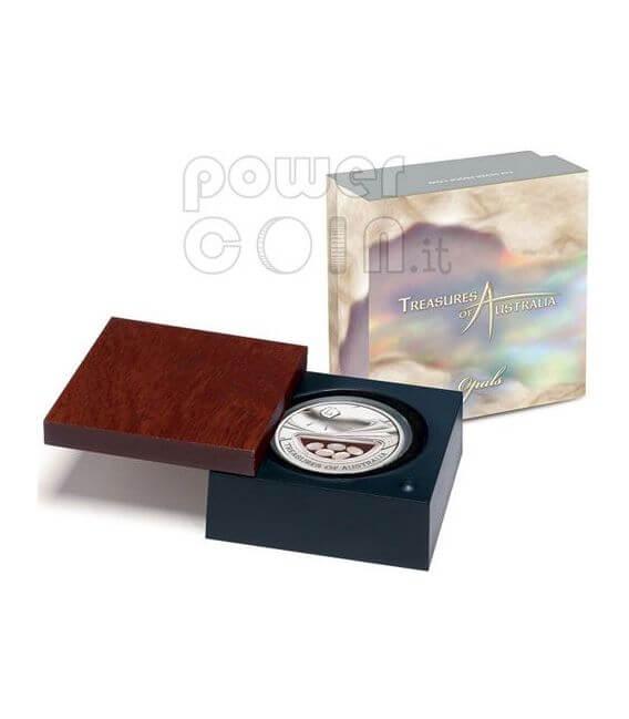 OPALS Treasures Of Australia Silber Proof Locket Münze 1$ 2008
