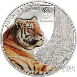 SUMATRAN TIGER Tigre WWF World Wildlife Fund Moneta 100 Shillings Tanzania 2016