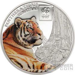 SUMATRAN TIGER WWF World Wildlife Fund Moneda 100 Shillings Tanzania 2016