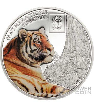 SUMATRAN TIGER Tigre WWF World Wildlife Fund Moneta 100 Shillings Tanzania 2016